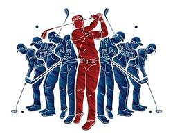 Golf Players Golfer Action
