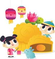 Super Cute Mid Autumn Festival Mooncake Kids Lantern