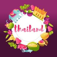 Super Cute Thailand Culture Copy Space Background vector