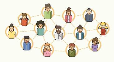 comunidad de redes sociales en línea vector