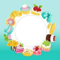 Super Cute Sweets Desserts Copy Space Background