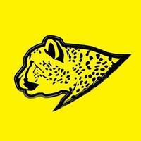 contorno de cabeza de guepardo vector