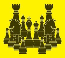 Chess Set Silhouette vector