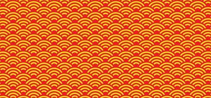 Red orange pattern background with traditional culture texture vector