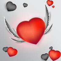 Vector Illustration of hearts for Valentine's day