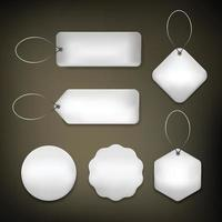 Silver Tag label basic vector