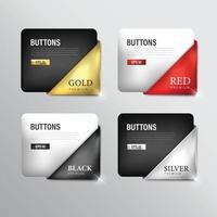 Ribbon set in Premium colors vector