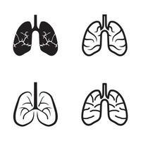 cuidado de la salud pulmonar y plantilla de diseño de logotipo médico vector