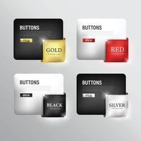 Premium color ribbon set vector