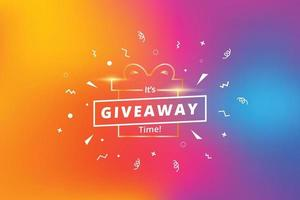 Giveaway template design for social media post vector