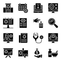 Pack of Medication Solid Icons