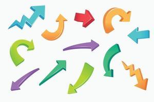creative arrow set design vector