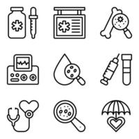 Pack of Medical Diagnosis Linear Icons