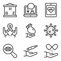 Pack of Healthcare Linear Icons