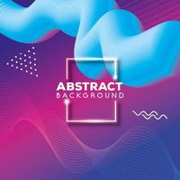 abstract background with vibrant colorful waves flow vector