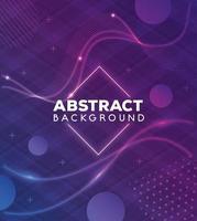 Fondo abstracto con puntos y ondas vibrantes vector