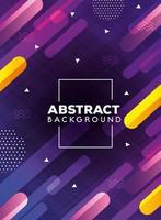 fondo abstracto con formas multicolores vector