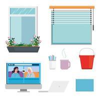 home and decor icon set vector