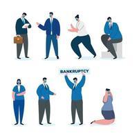 conjunto de gente de negocios frustrada vector