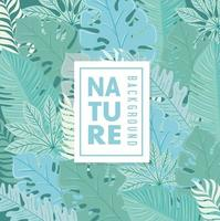 Tropical foliage pattern background vector