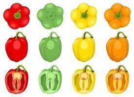 Pepper vector design illustration set isolated on white background