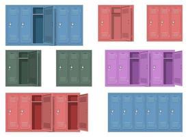 Conjunto de ilustración de diseño de vector de armario escolar aislado sobre fondo blanco