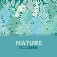 Tropical foliage green background vector