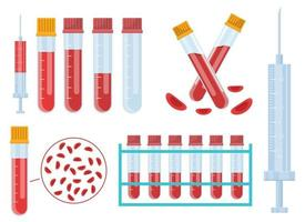 Blood test vector design illustration set isolated on white background