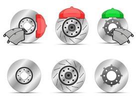 Brake disk vector design illustration set isolated on white background