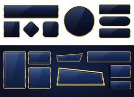 Luxury golden banner vector design illustration set