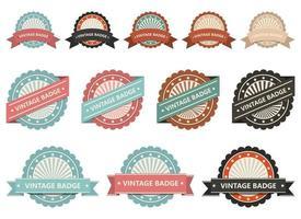 Vintage labels vector design illustration set isolated on white background