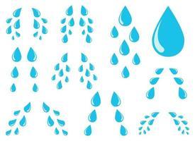 Conjunto de ilustración de diseño de vector de lágrimas aislado sobre fondo blanco