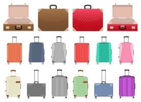 Suitcase vector design illustration set isolated on white background