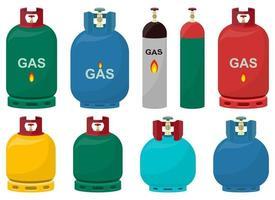 Gas tank vector design illustration set isolated on white background