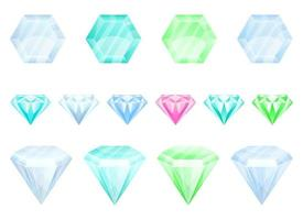 Diamond vector design illustration set isolated on white background