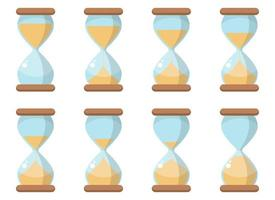 Hourglass icon vector design illustration set isolated on white background