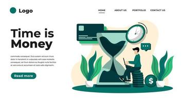Health insurance concept landing page. vector