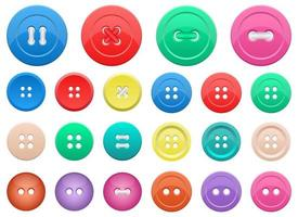 Clothes button set vector design illustration set isolated on white background