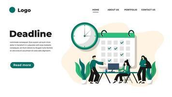 Modern flat design illustration of Deadline. vector