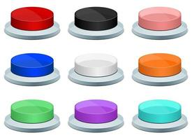 Press button vector design illustration set isolated on white background
