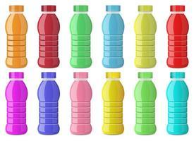 Juice bottle vector design illustration set isolated on white background