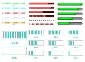 Ilustración de diseño de vector de barra de carga aislada sobre fondo blanco