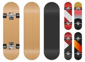 Skateboard vector design illustration isolated on white background