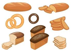 Bakery and pastry products vector design illustration set isolated on white background