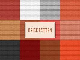 Ilustración de diseño de vector de patrón de pared de ladrillo