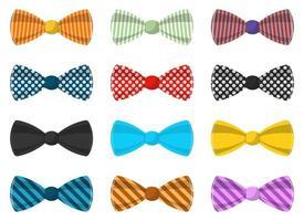 Stylish bow tie vector design illustration set isolated on white background