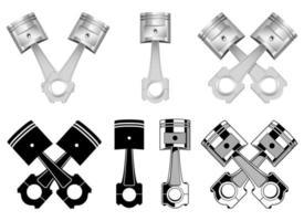 Realistic engine piston vector design illustration isolated on white background