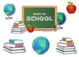 Back to school vector design illustration isolated on white background