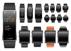 Smartwatch device vector design illustration set isolated on white background