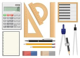 School tools vector design illustration set isolated on white background